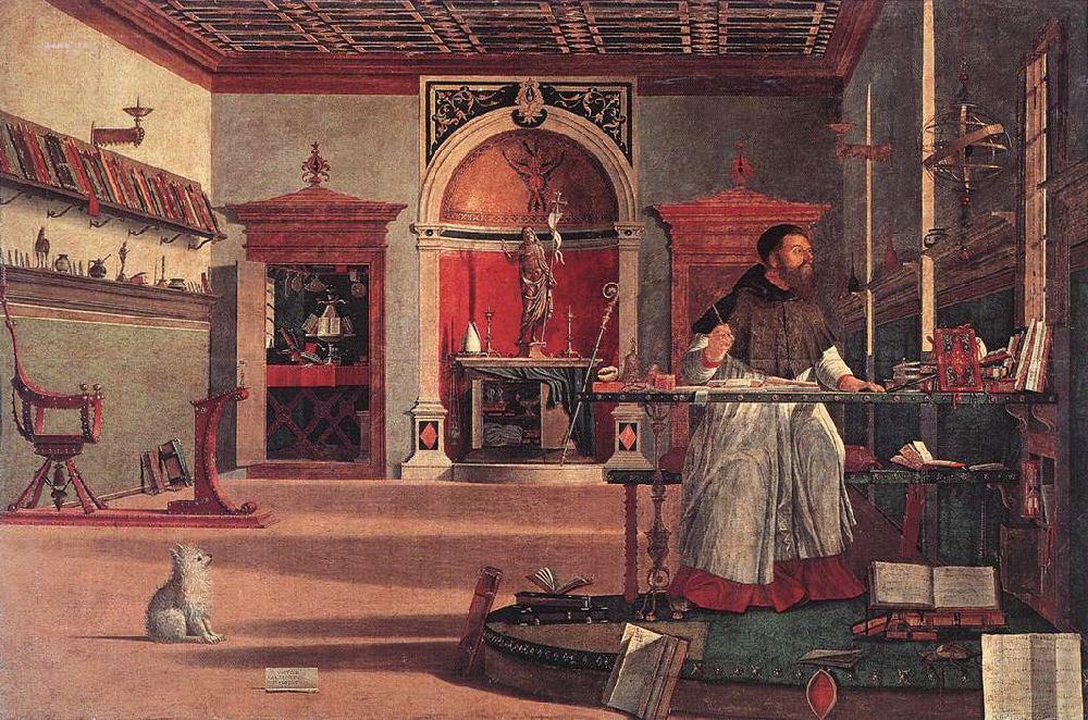 Vision of St. Augustine, Vittore Carpaccio