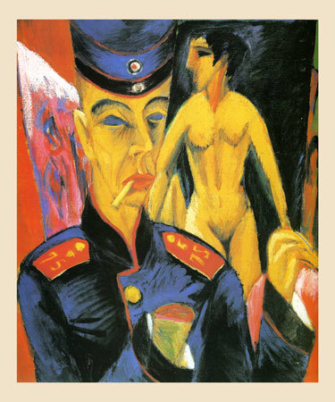 itp 166 self portrait as a soldier by ernst ludwig kirchner